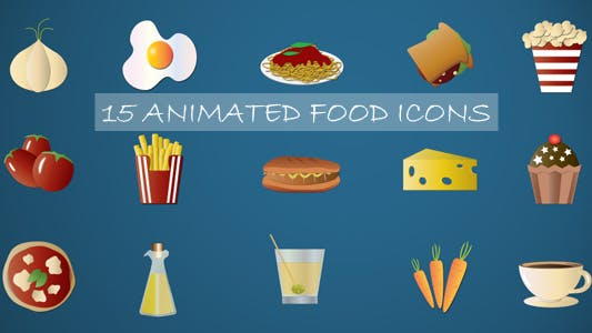 Animated Food Icons