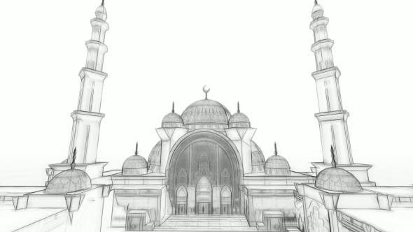 Thumbnail for 3D Mosque Sketch Animation