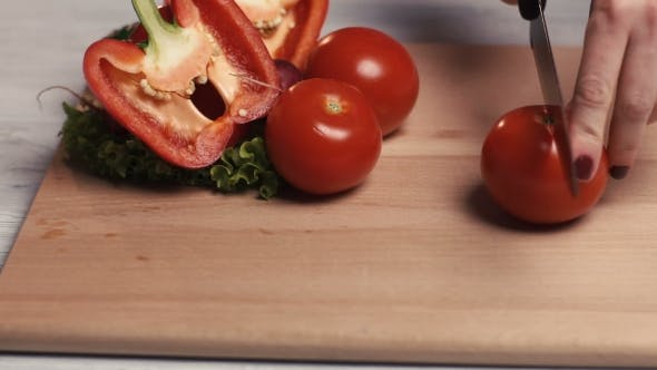 Thumbnail for Tomato Cutting Process