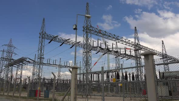 Thumbnail for Transferring Electricity From Wind Power Energy To Electrical Substation Of Transforming Station