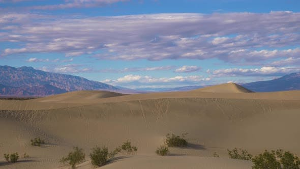 Thumbnail for Mesquite Flat Sand Dunes on Sunny Day. Death Valley National Park. California, USA