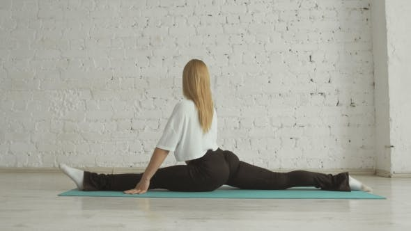 Thumbnail for Young Attractive Female Fitness Woman Performing A Twine, Healthy Lifestyle