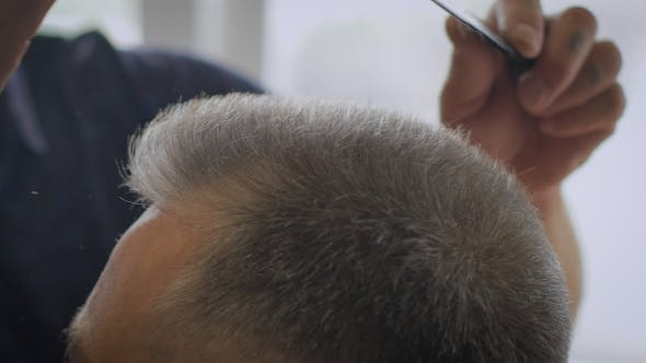Thumbnail for Gray-haired Man In a Barber Shop
