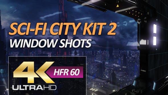 Sci-Fi City Pack 2 - Window Shots