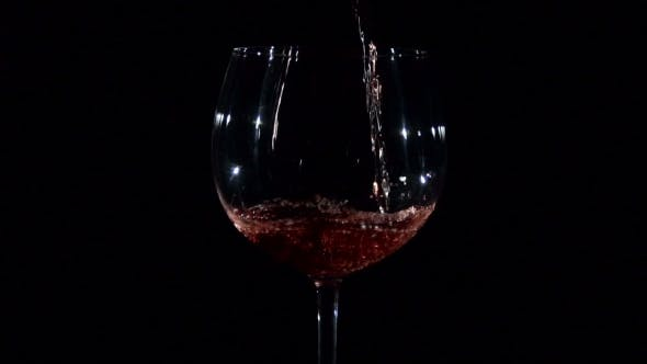 Thumbnail for Red Young Wine Pouring Into Glass