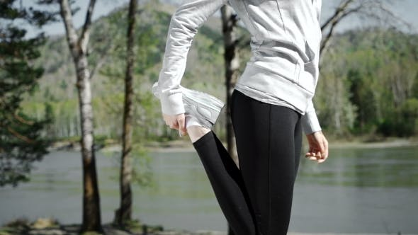 Thumbnail for Woman Runner Warm Up Outdoor