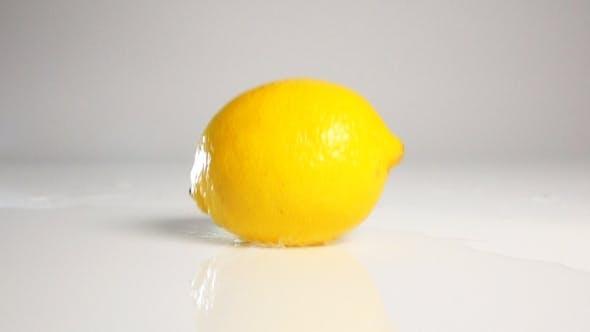 Thumbnail for Lemon Fall Down On White Surface