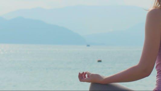 Thumbnail for Sea and Hand of Meditating Woman