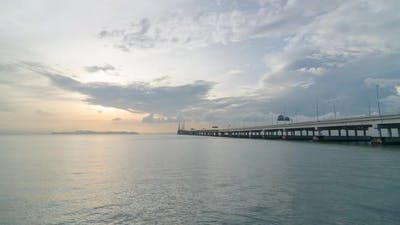 Timelapse 4k footage cloudy morning