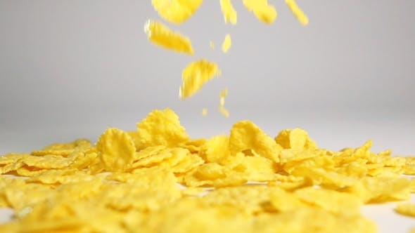 Thumbnail for Cornflakes Fall On White Surface