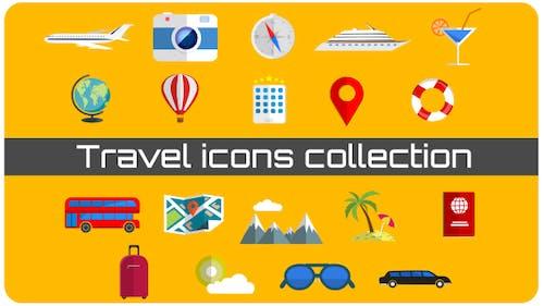 Collection d'Icones de voyage