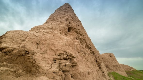 Thumbnail for The Ruins Of The Earthen Walls Of The Ancient City Sauran, Kazakhstan