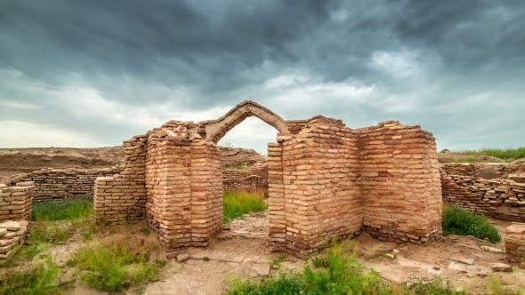 Thumbnail for Old Castle Ruins In The Ancient City Sauran, Kazakhstan