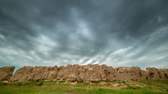 Cover Image for Destroyed Clay Wall Of The Ancient City Of Sauran, Kazakhstan