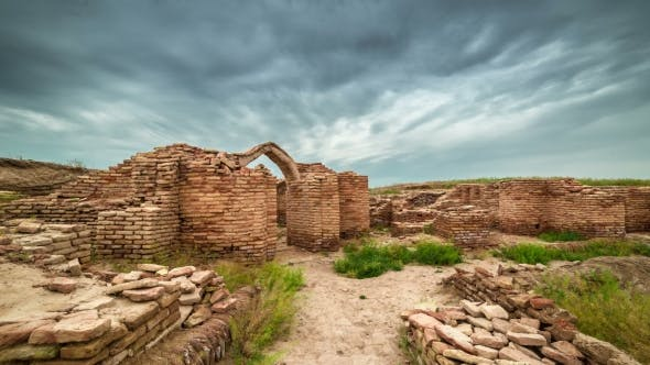 Thumbnail for Ruins Castle, Tombs, And Others Buildings In Old City Of Sauran, Kazakhstan