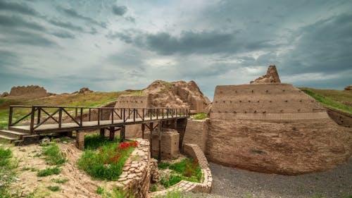 UNESCO-Weltkulturerbe Antike Stadt Sauran, Kasachstan
