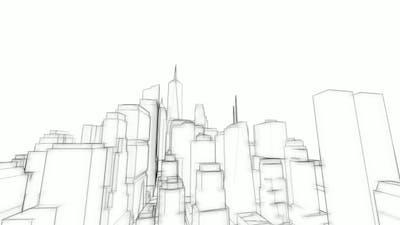 3D Architecture Sketch Background