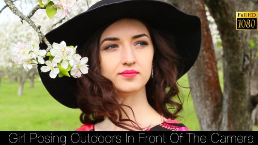 Thumbnail for Girl Posing Outdoors In Front Of The Camera 2