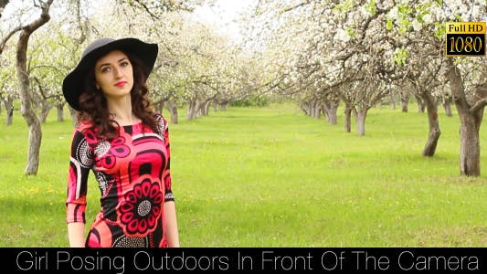 Thumbnail for Girl Posing Outdoors In Front Of The Camera 8