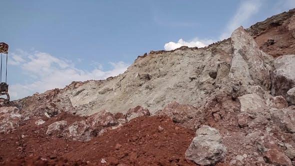 Excavator Loading Ore.