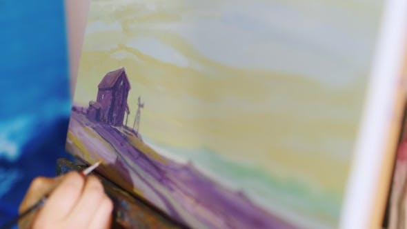Thumbnail for Artist's Draws a Picture