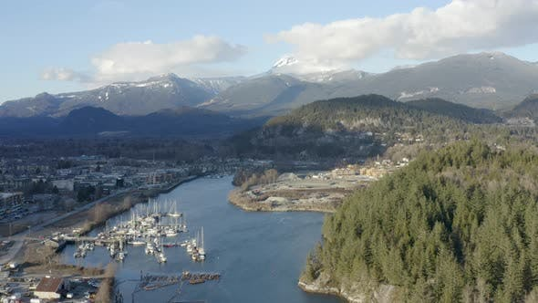 Cover Image for Squamish Bc Canada Aerial Winter Landscape View