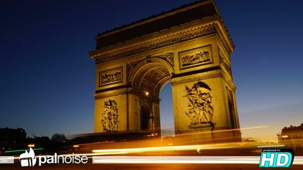 Thumbnail for Arch Triumph Champs Elysees Paris France