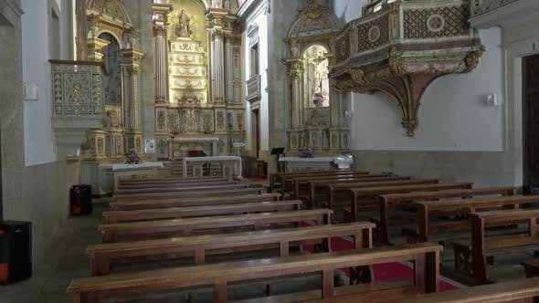 Thumbnail for Interior of Church of Mercy in Viseu, Portugal