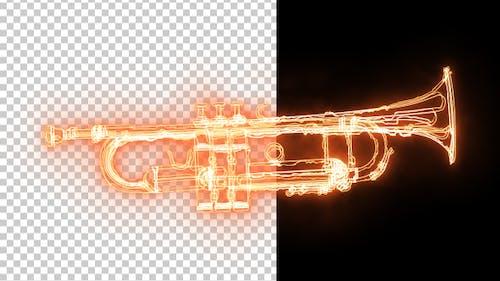 Burning Jazz Trumpet