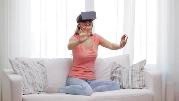 Thumbnail for Woman In Virtual Reality Headset Or 3d Glasses 21