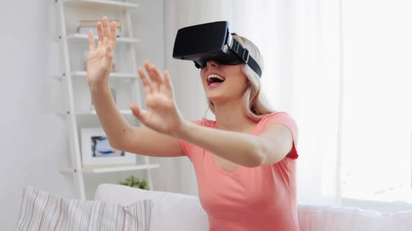 Thumbnail for Woman In Virtual Reality Headset Or 3d Glasses 1