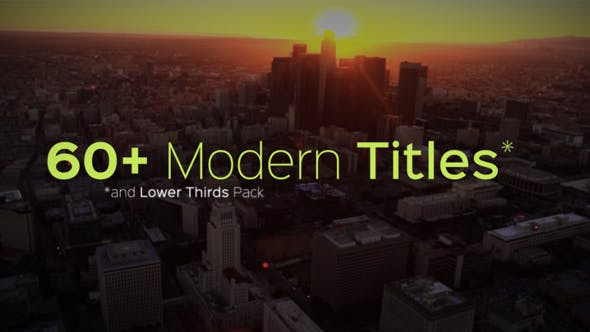 Cover Image for Modern Titles and Lower Thirds