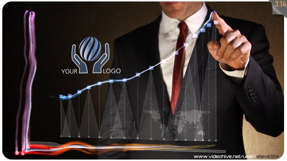 Thumbnail for Business Chart - Logo Intro
