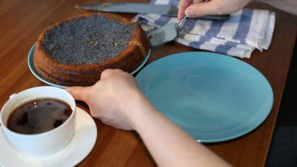 Thumbnail for Female Hand Serving a Cake