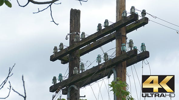 Cover Image for Old Phone Wires Pole