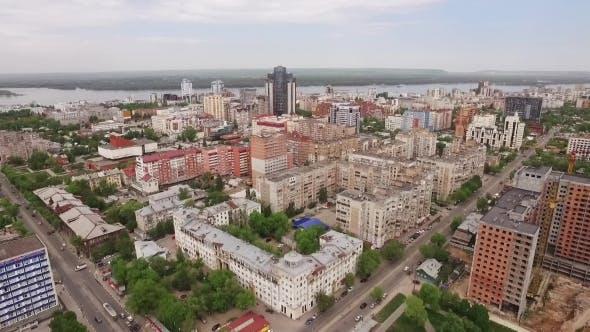Thumbnail for Drone Flies Over Samara City 2