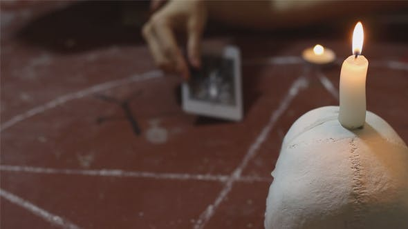 Thumbnail for Ritual of Black Magic With Tarot Cards