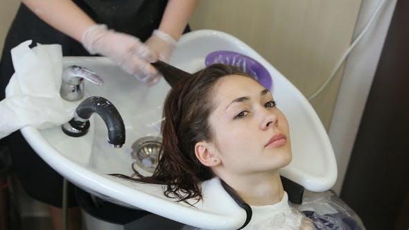 Thumbnail for Professional Hairdresser Bleaching Girl's Hair