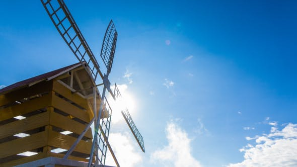 Thumbnail for Windmill On Blue Sky