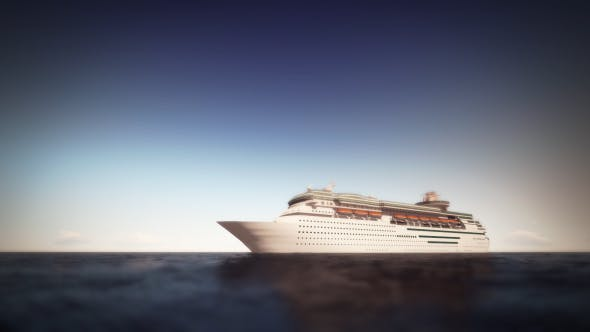 Thumbnail for Cruise Ship On The Sea - Noon