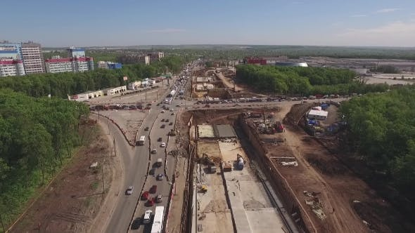 Thumbnail for Aerial Of Construction Of Road Junction 1