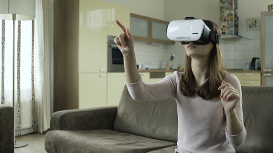 Cover Image for Woman Working In Virtual Reality