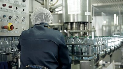 The Control Of a Production Line For Bottling Mineral Water In Bottles