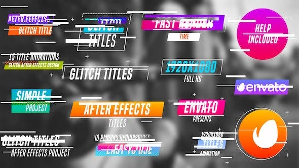 Thumbnail for Colourful Glitch Titles