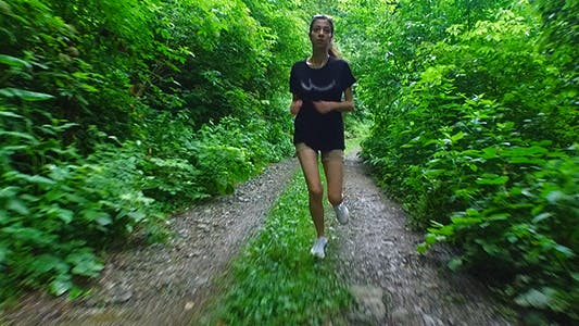 Thumbnail for Young Woman Jogging