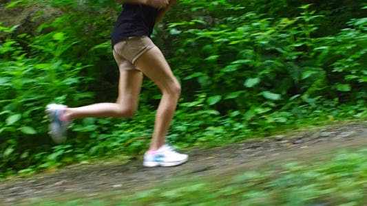 Thumbnail for Woman Legs Running in the Forest