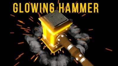Glowing Hammer Logo/Text Revealer