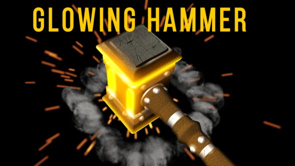 Thumbnail for Glowing Hammer Logo/Text Revealer
