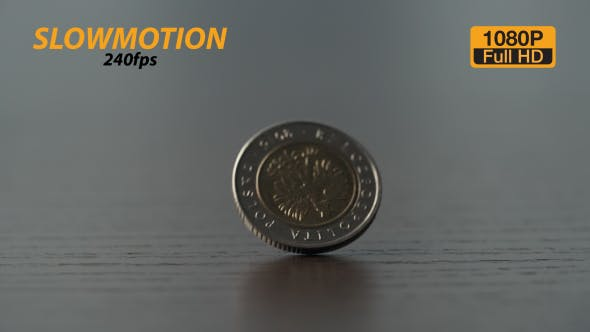 Cover Image for Coin Rotating Slow Motion 3