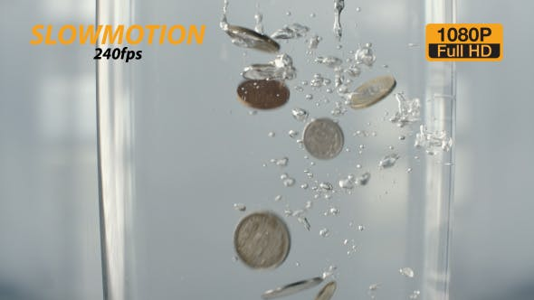 Thumbnail for Coins Fall into Water